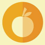 Apricot hipster icon