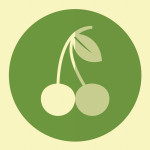 Cherry hipster icon