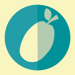 Plum hipster icon